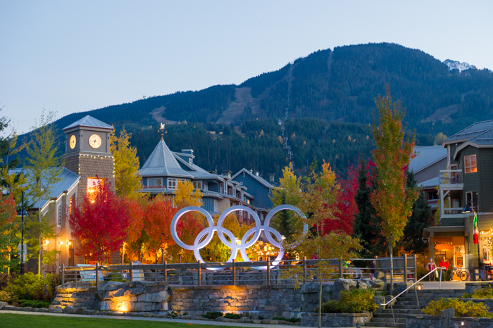Beautiful fall evening in Whistler Village